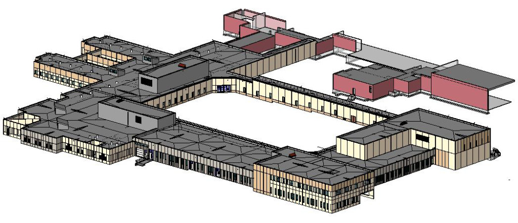 3D view of Acute and Admin bldg